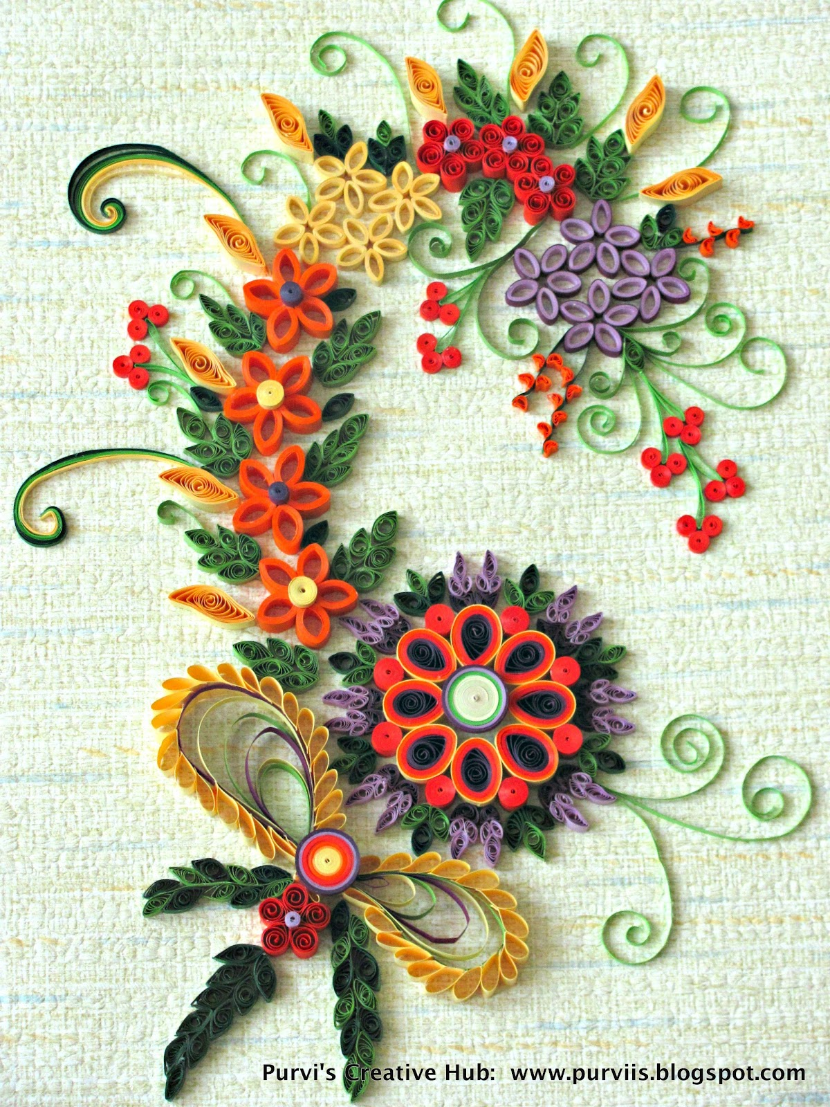 Purvi 39 s creative hub first quilled art work for Quilling paper art