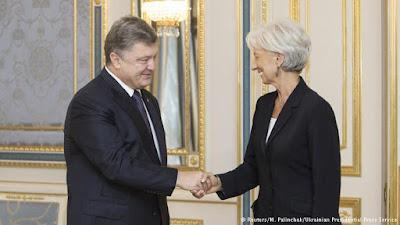 Директор-распорядитель МВФ Лагард посетила Украину