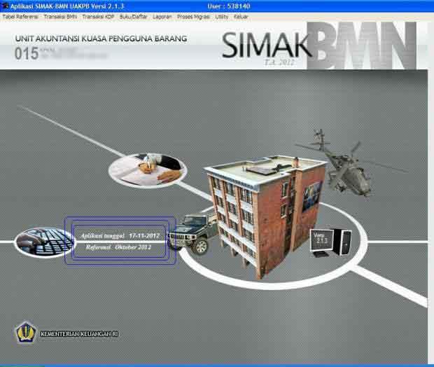 Update Aplikasi SIMAK BMN 2012 Versi 11.005 [Added: Selasa, 18 Desember 2012]