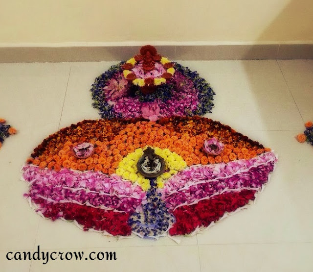 flower  Rangoli Designs For Pongal, Diwali and Karthikai Deepam