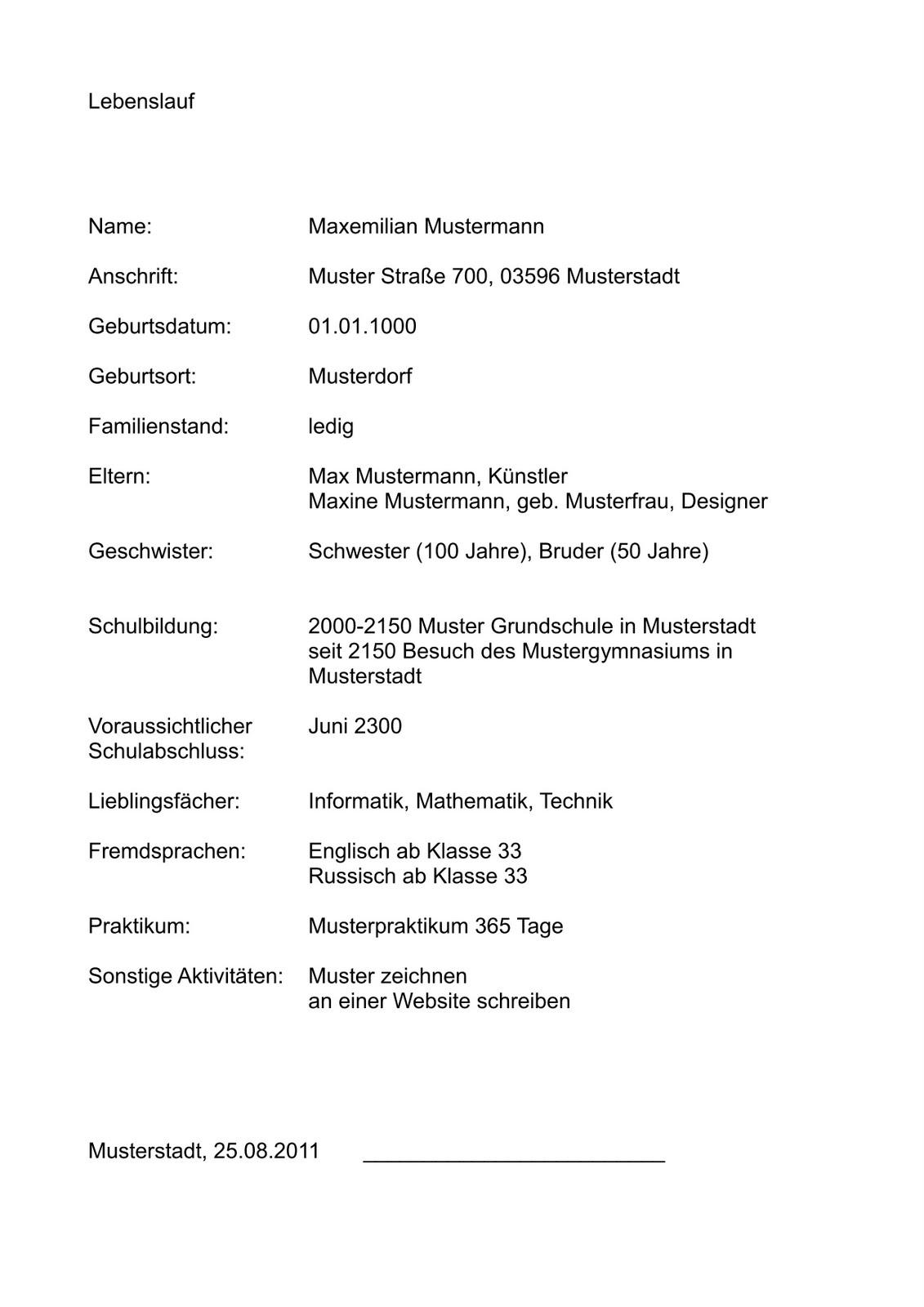 Bewerbungsformular muster ~ Dokument Blogs