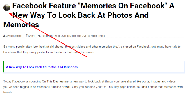 How To Add Author Avatar Image Beside The Post Title In Blogger Blog