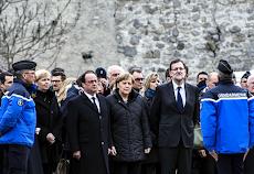 Hollande, Rajoy y Merkel llegan a zona de la catástrofe del A320