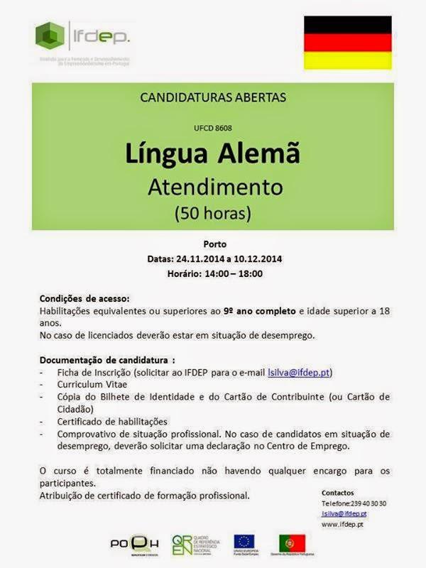 curso gratis de lingua alema no Porto