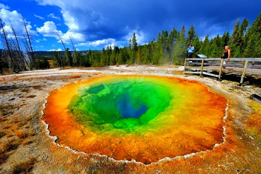Morning Glory Pool colorful hot springs