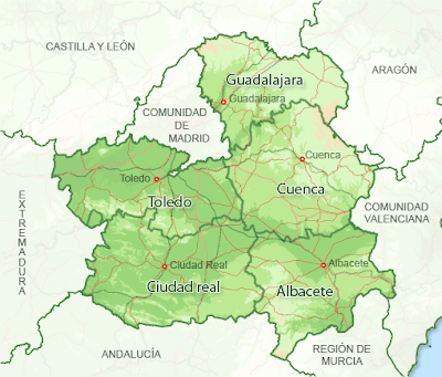 Castilla la Mancha Map Information