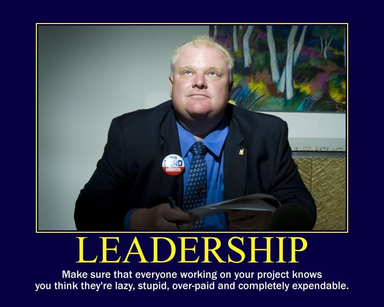 Demotivational Posters Leadership