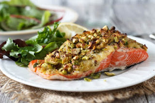 Salmon with Pistachios recipe