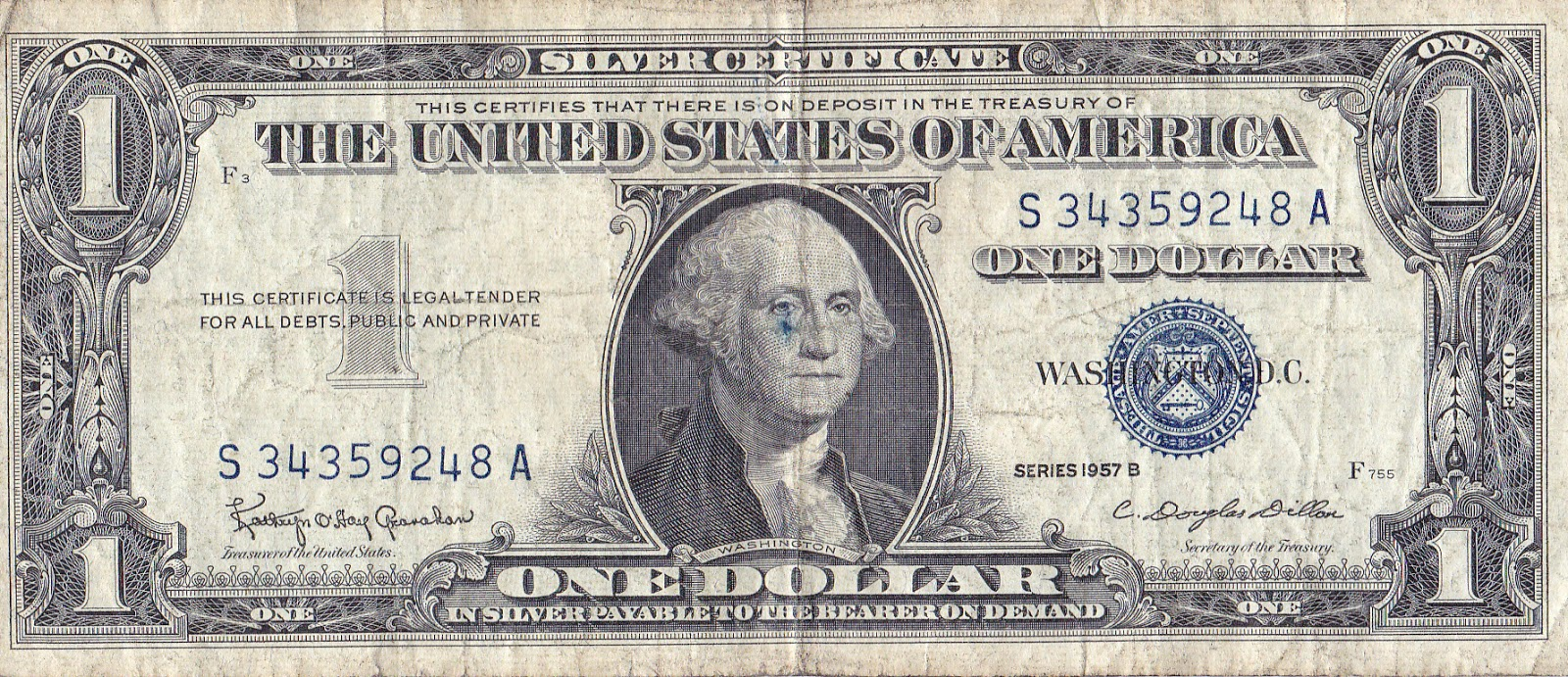 History in the raw the bare facts of history that you dont get what it used to say on our dollar bills its not like this anymore here is a silver certificate from 1957 xflitez Images