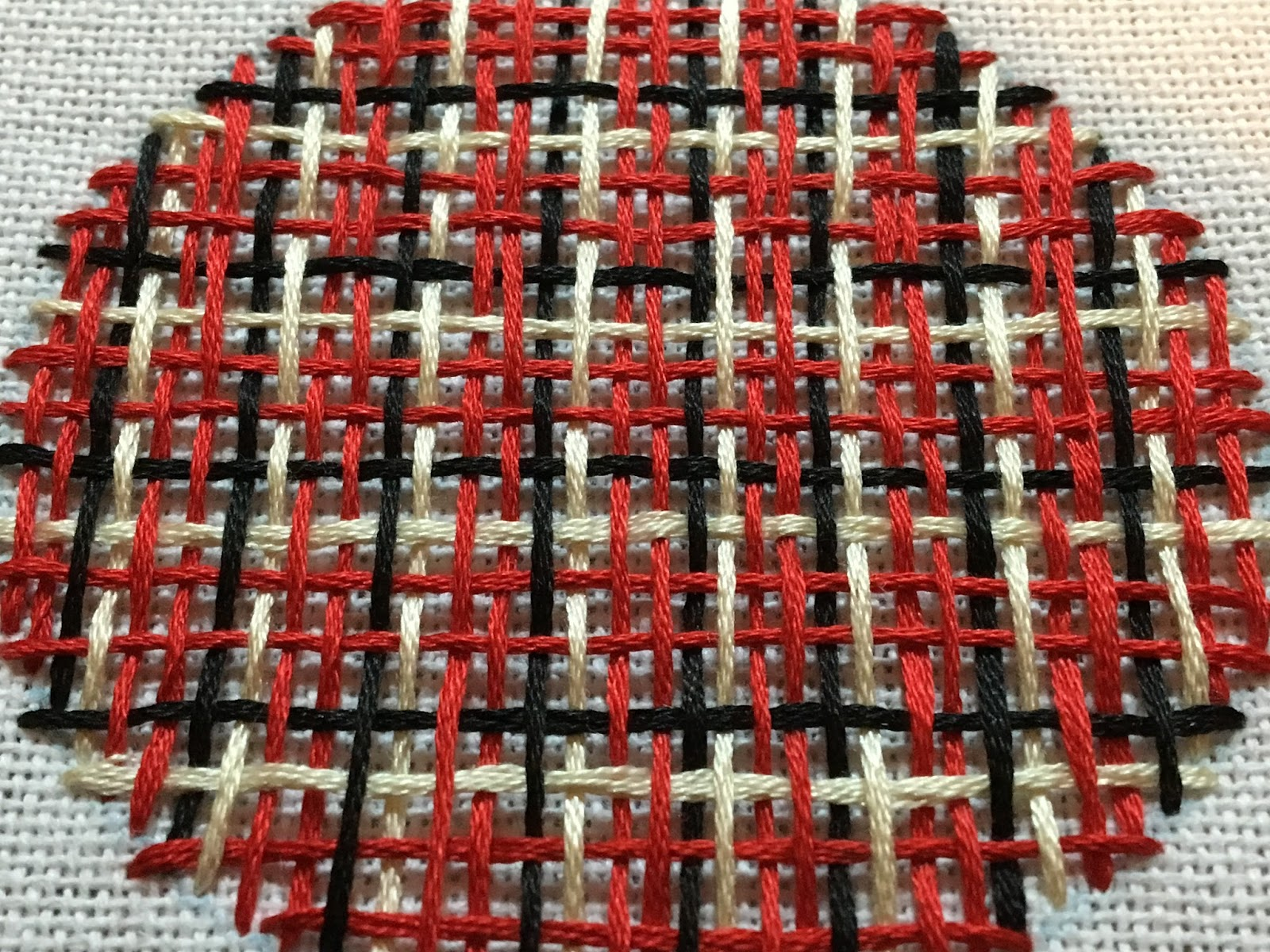 plaid embroidery needle weaving