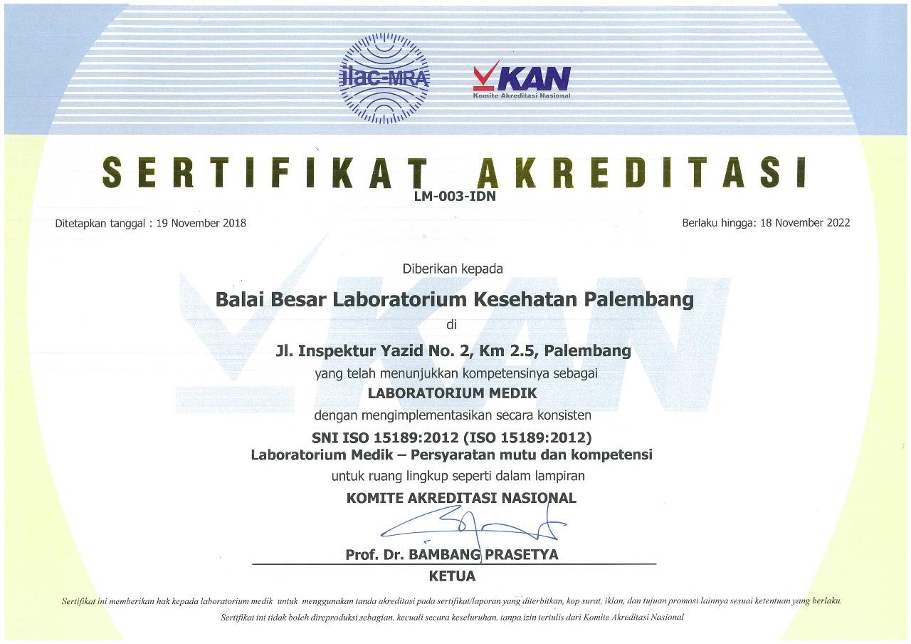 Sertifikat Lab.Medik 15189