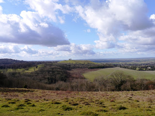 A view north from the Ridgeway over the rich farmland of Oxfordshire