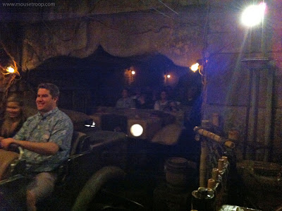 Indiana Jones Adventure ride Disneyland temple vehicles