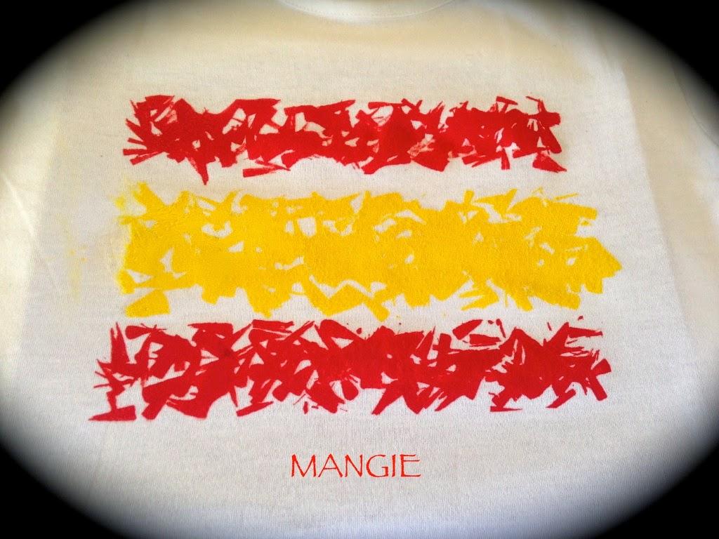 Bandera de España en camiseta