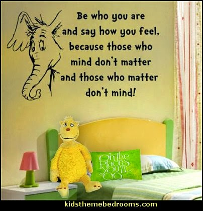 Decorating theme bedrooms maries manor dr seuss theme for Dr seuss wall mural decals