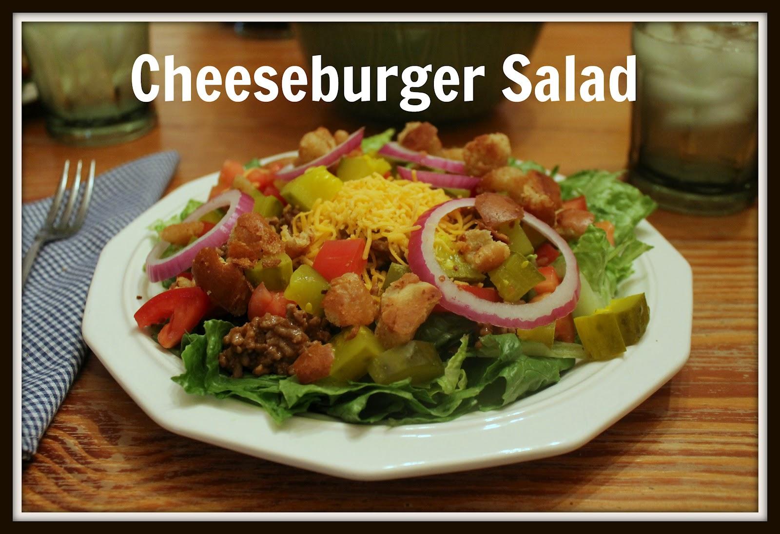 Salad On Tuesday: Week 5 {Cheeseburger Salad...aka A Man Salad}