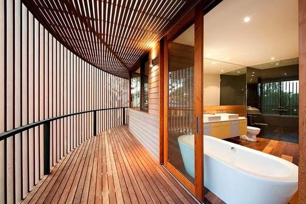 Dise o de moderna casa de madera circular de dos pisos for Casas modernas en washington