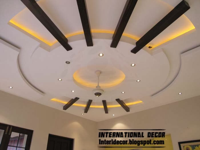 False ceiling pop designs with LED ceiling lighting ideas 2014