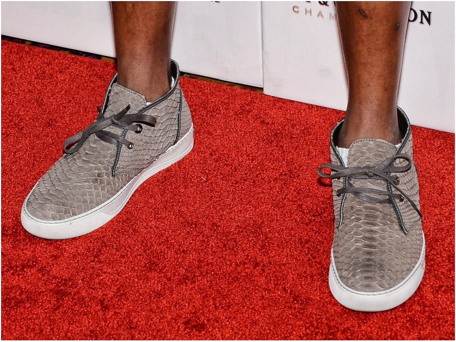 00O00 Menswear Blog: Pharrell Williams's Lanvin python leather chukka boots - Pure Nightclub at Caesars Palace