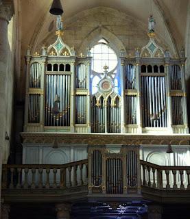 Neo-Gothic Organ (2209 pipes) Kolonics built Istvan (1877) St. Michael's Cathedral Alba Iulia, Transylvania, Romania