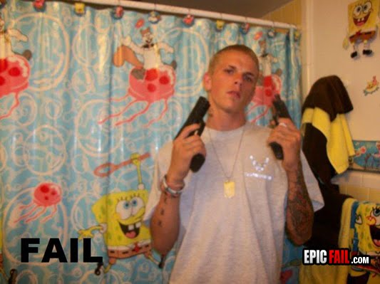 Shower Curtains shower curtains funny : RedHotPogo: Tough Guy Fail