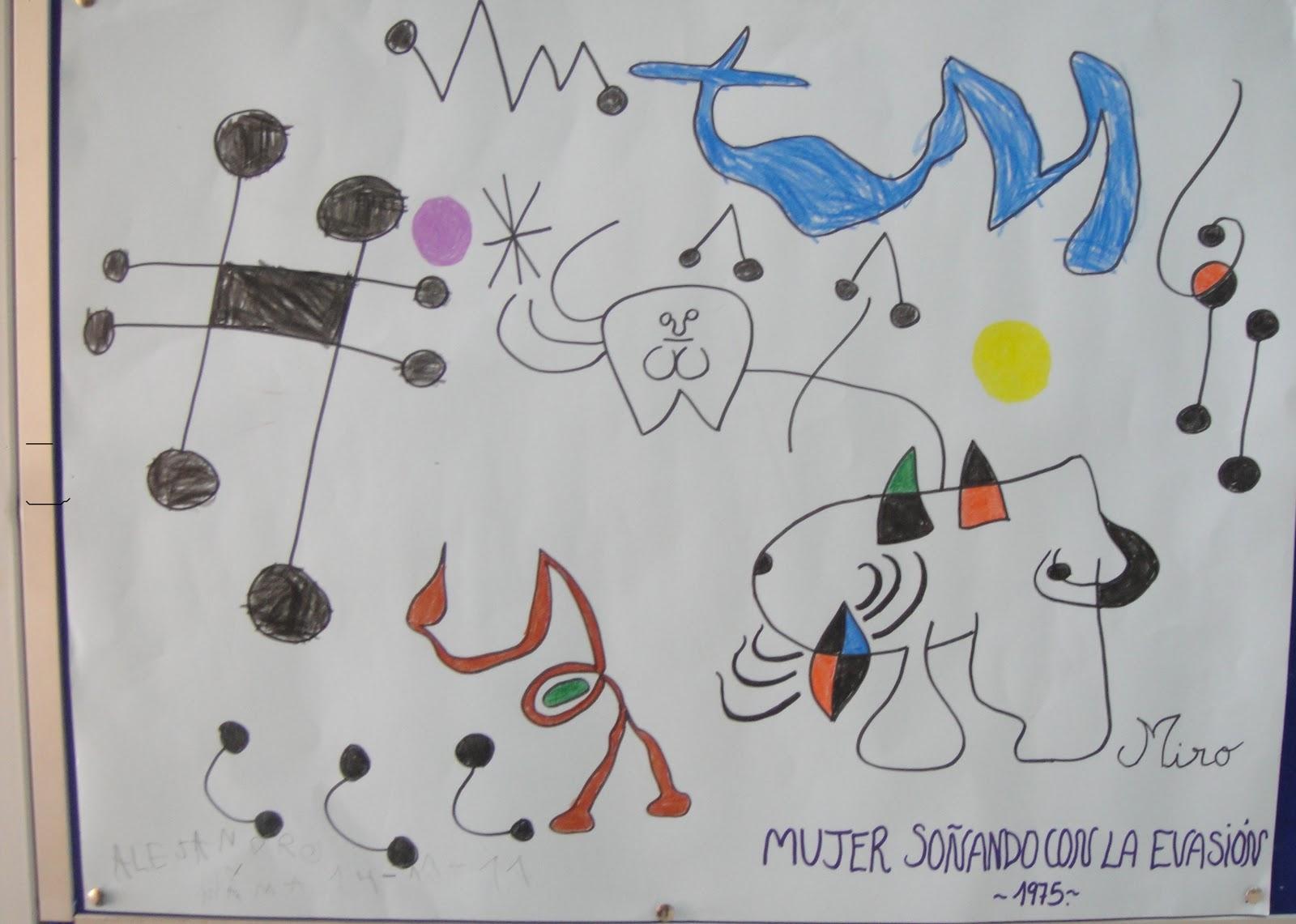 Mira como aprendo joan mir for Mural de los 5 sentidos
