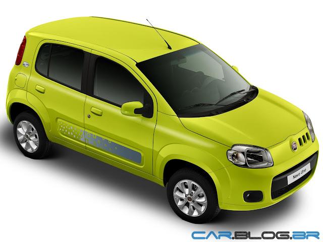 Fiat Uno 2013 Vivace amarelo
