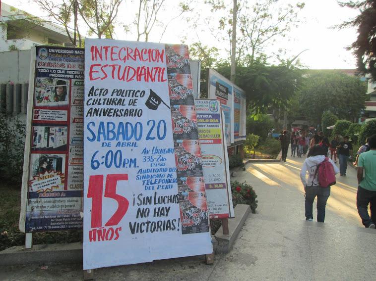 INTEGRACIÓN ESTUDIANTIL PRESENTE EN LA UNAC!!!