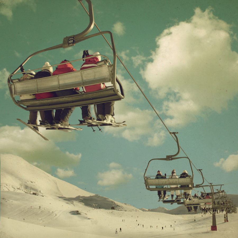 Ski Lift Photograph by Tim Irving