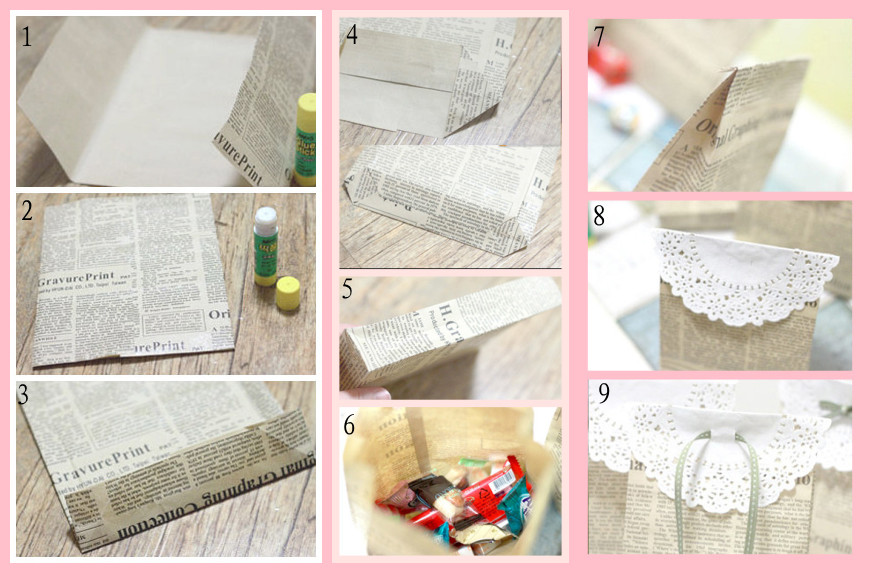 How to Make a Newspaper-made Gift Bag