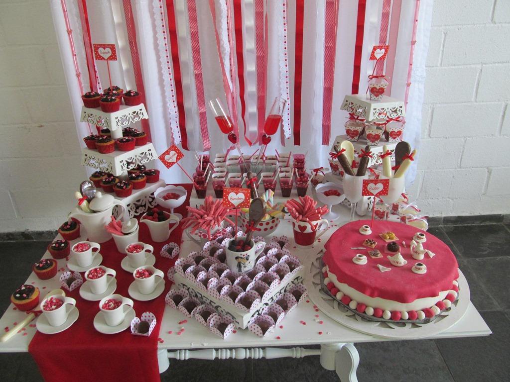 Sai postando decoraç u00e3o Chá de panela -> Decoração De Cha De Panela Vermelho E Branco Simples