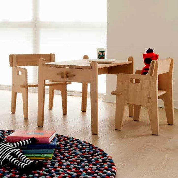 Carl Hansen Children's Table and Chair by Hans J. Wegner