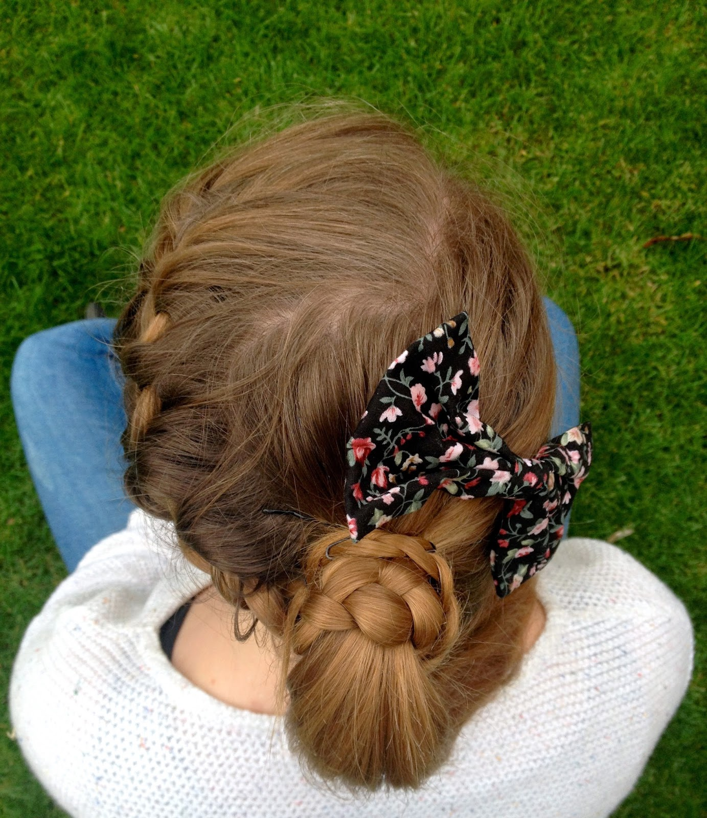 french-braided ponytail