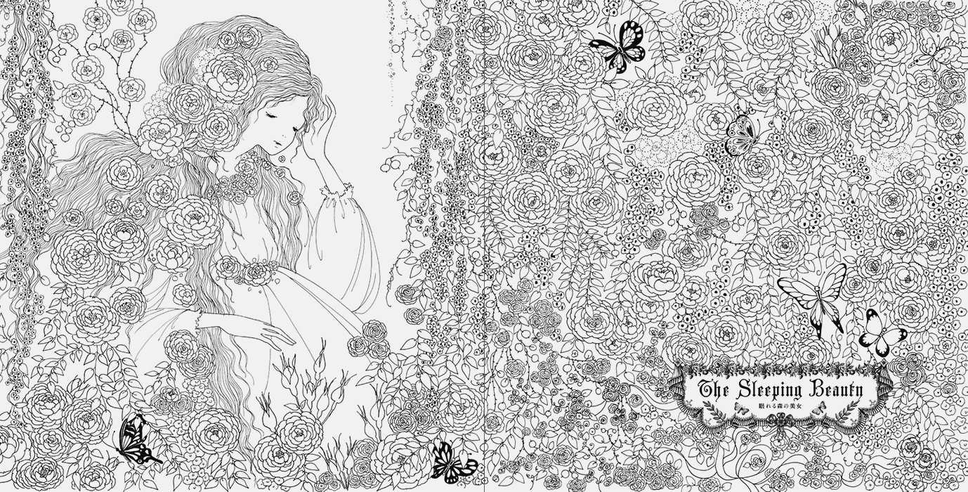 coloring book week fairy tale colouring book by tomoko tashiro