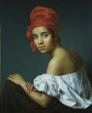 Oil painting of a creole woman