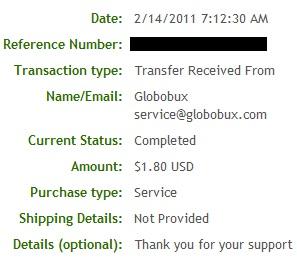 Pagamento Globobux - PTCs em Prática