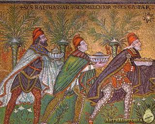 Los tres Reyes Magos de Oriente ,regalos