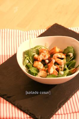 Et charlotte d couvrit la cuisine salade c sar au - Recette salade cesar au poulet grille ...