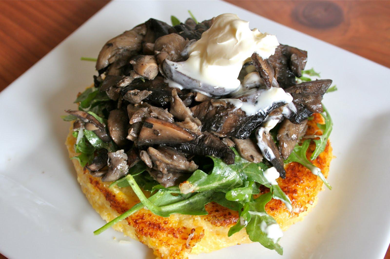 Omnivorous: Warm Mushroom Salad with Crispy Polenta