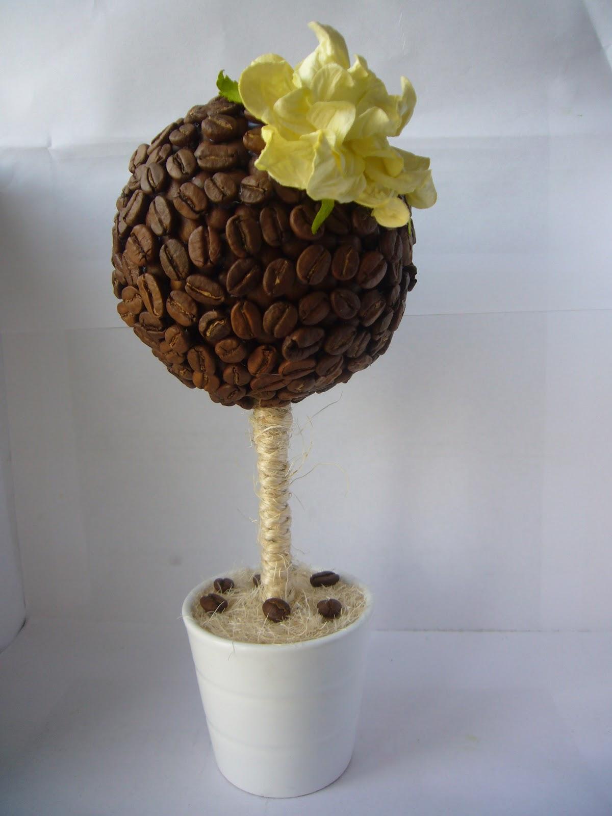 Дерево из кофейных зерен пошаговое фото