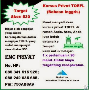 Privat TOEFL Makassar