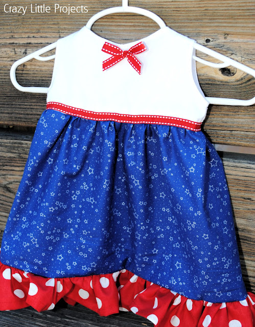 4th of July Baby Dress tutorial