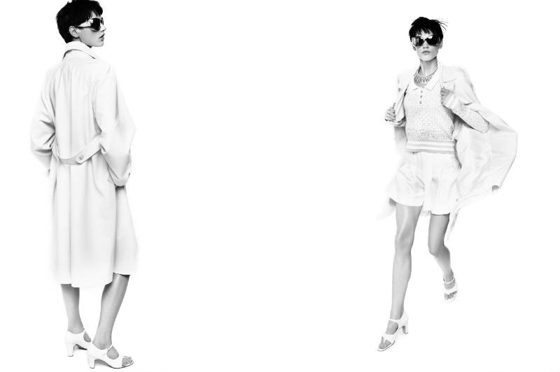 Saskia de Brauw photographed by Karl Lagerfeld for Chanel Cruise 2012 campaign