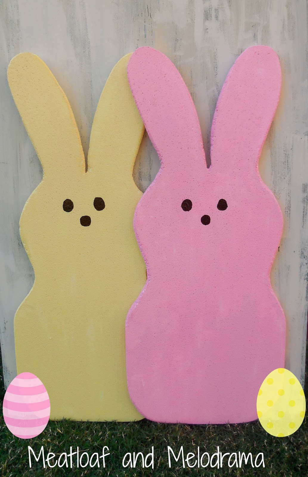 DIY foam peeps bunnies