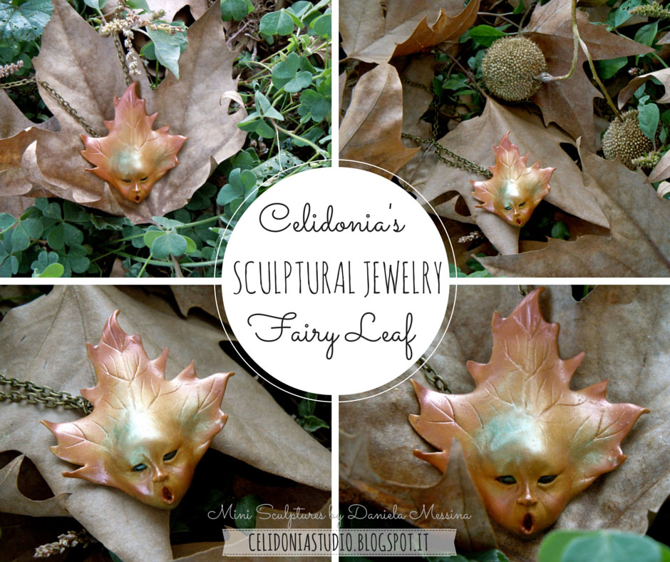 Fairy Leaf Jewel in Polymer Clay - Tutorial by Celidonia