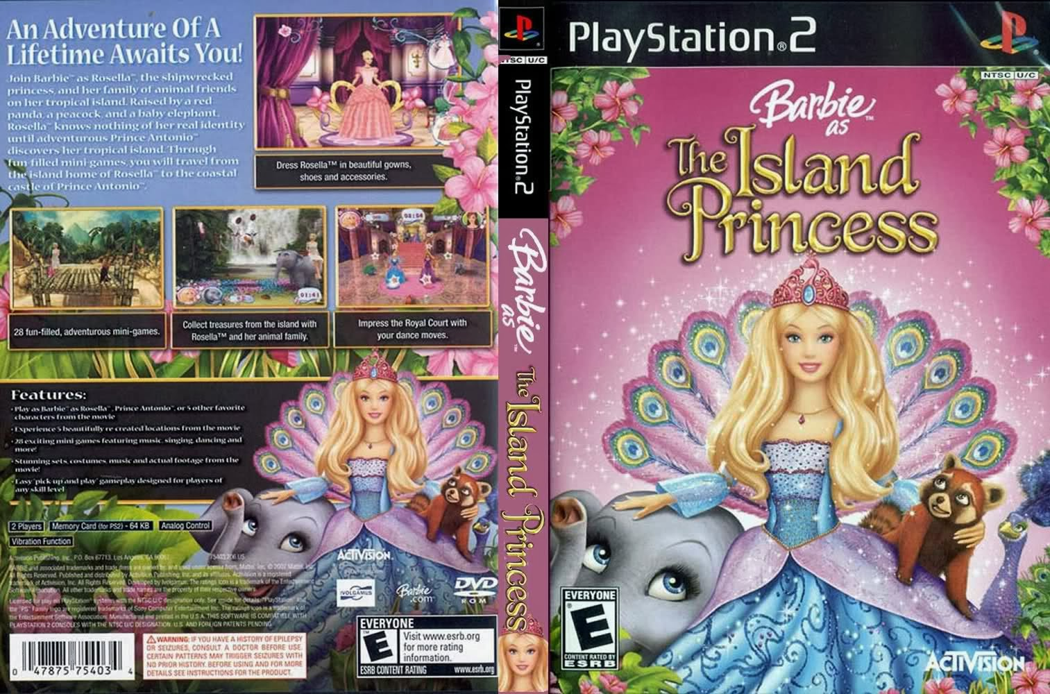 Barbie As The Island Princess PS2 DVD Capa