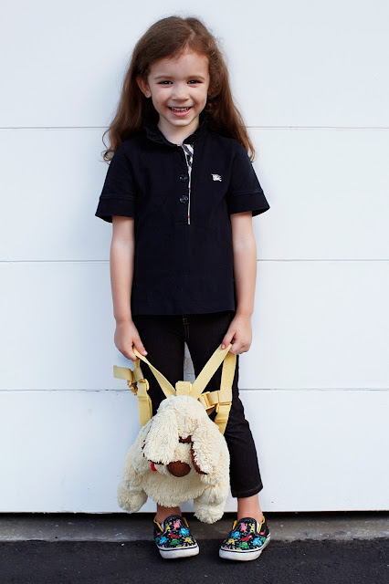 girls burberry polo shirt