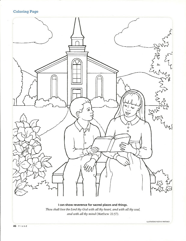 Coloring Pages For Church Top Coloring Pages