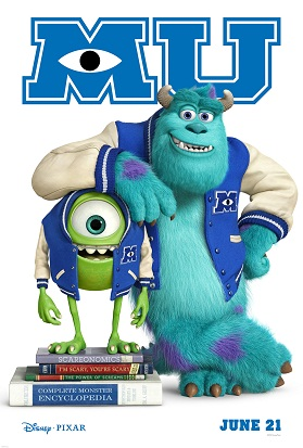 Monsters University Movie 2013 Poster