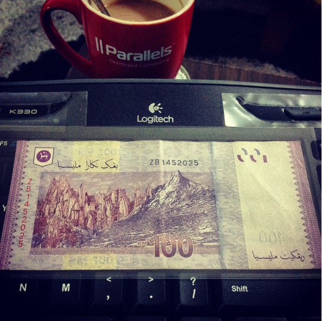 Replacement Banknote, RM100, bernombor siri ZB1452025, Replacement Note, Duit Z
